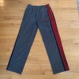 Adidas youth 3 stripe Climalite pants NWT